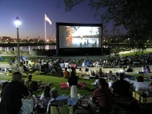 outdoor movie screen rental chicago