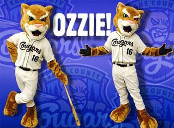 Kane County Cougars Mascot